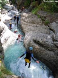 activités vacances dans le 05 - Fournel Canyon enfant Fournel canyon saut