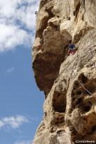 Pendule, Cap Canaille - Stage d'escalade en falaise