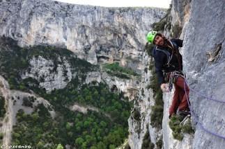 Verdon les Caquous - Stage d'escalade en falaise avec un moniteur BE
