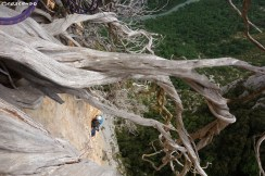 Verdon grande voie Via Mathis - stage d'escalade