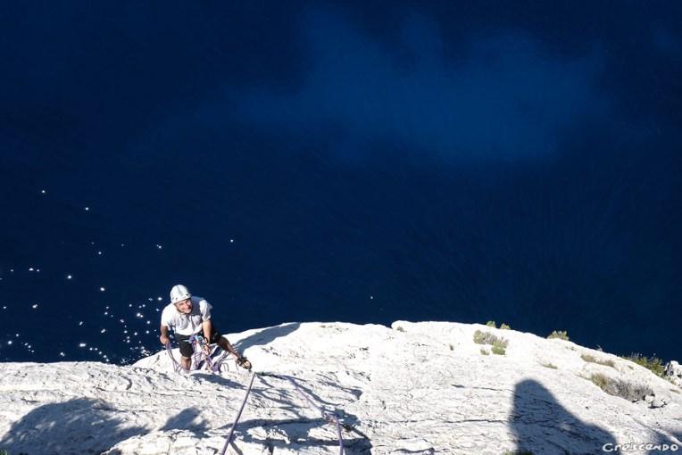 escalade Calanques, week-end Calanques, grande voie découverte
