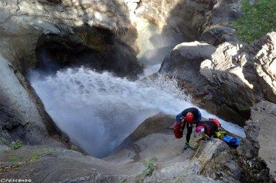 geyser des Oules, canyon des Oules, faire du canyon, formation canyon