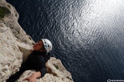 moniteur d'escalade calanques, escalade Marseille