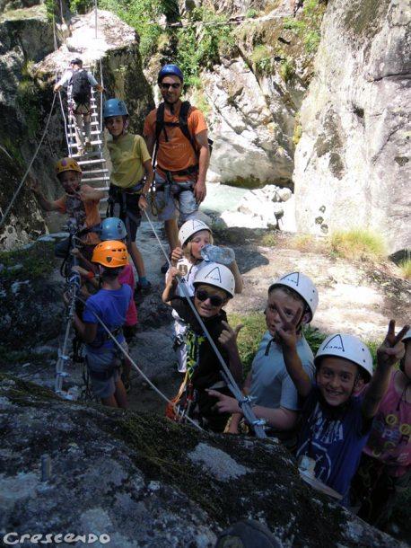 Begin via ferrata, easy climb via ferrata, family via ferrata
