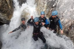 canyoning in southern alps, whitewater with family