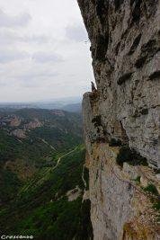 saint guilhem le désert, grande voie Montpellier, moniteru escalade Hérault