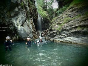 Réallon canyoning, canyon sensations 05, moniteur canyon Embrun