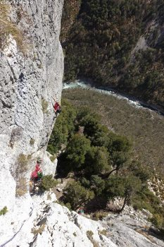 Verdon grande voie, stage perfectionnement escalade, guide escalade Verdon