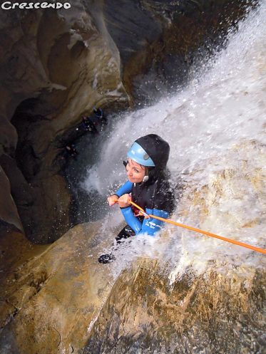 discovery canyoning with beginners