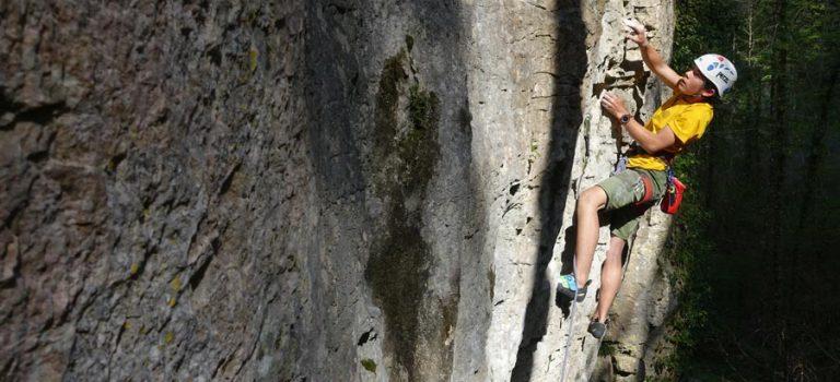 Séjour escalade sur les falaises d'Omblèze