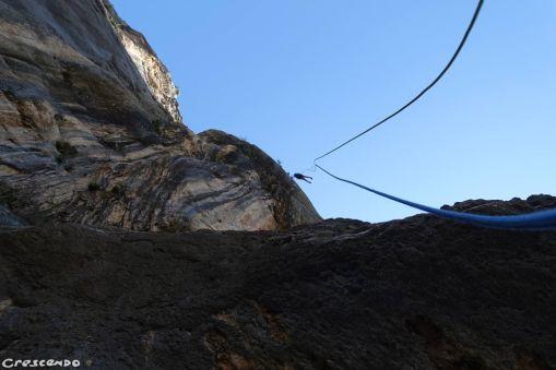 Rappel escalade, grimper dans le Verdon