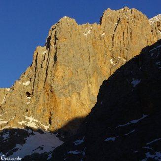 face rocheuse, big wall, escalade alpine en Turquie