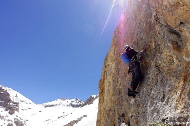 escalade en grande voie, multipitch climbing course