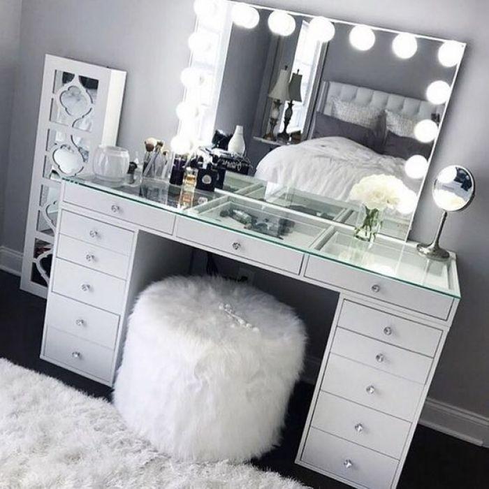 penteadeira dos sonhos camarim branca #decoração #decoration