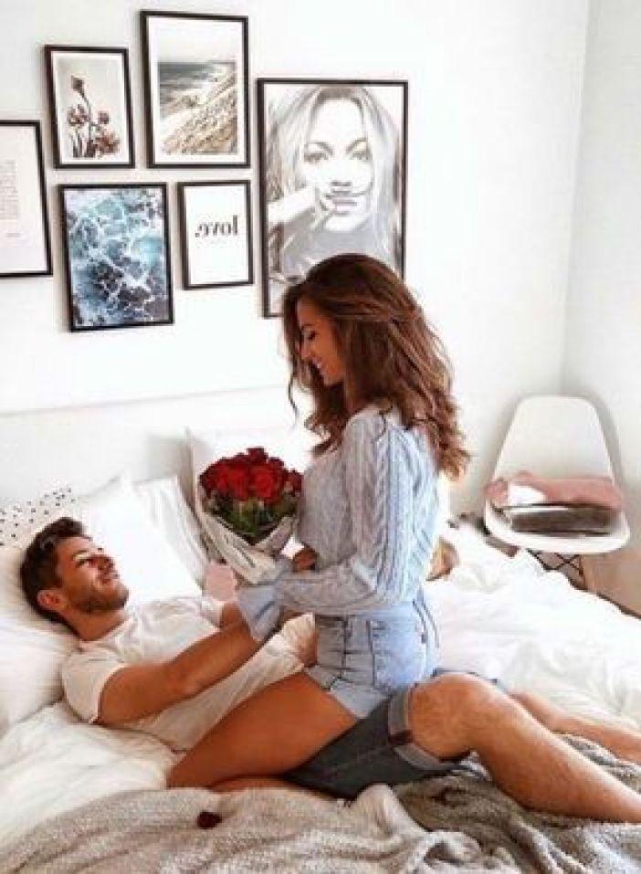 fotos de casais na cama