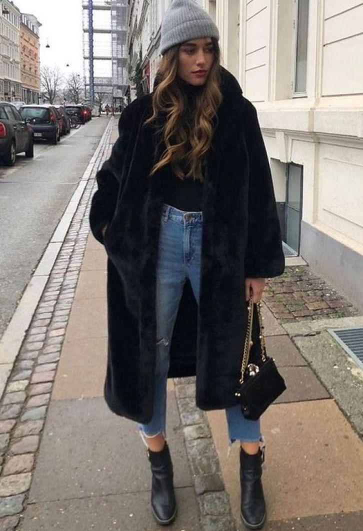 look tumblr feminino inverno com touca