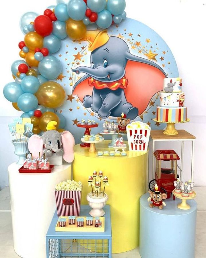 decoração festa infantil dumbo