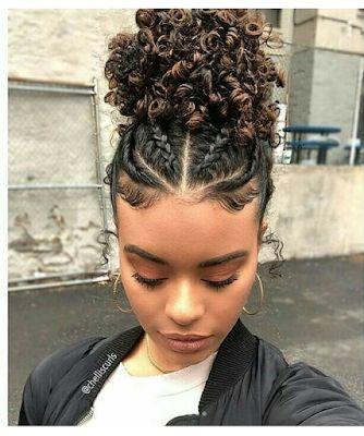 penteados para cabelos cacheados com trança