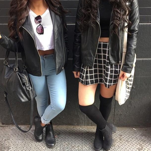 looks com jaqueta de couro