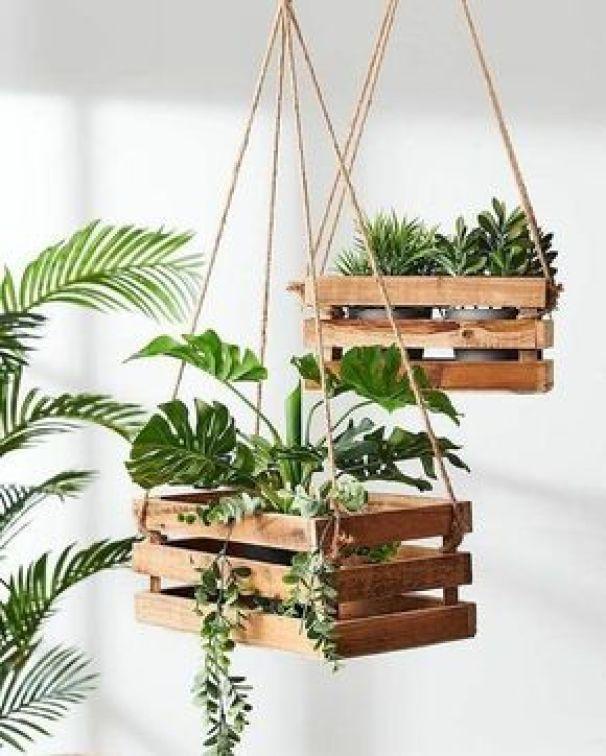suporte de madeira para pendurar plantas