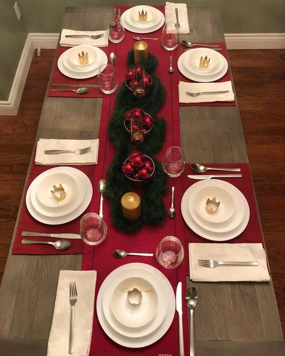 mesa posta natalina