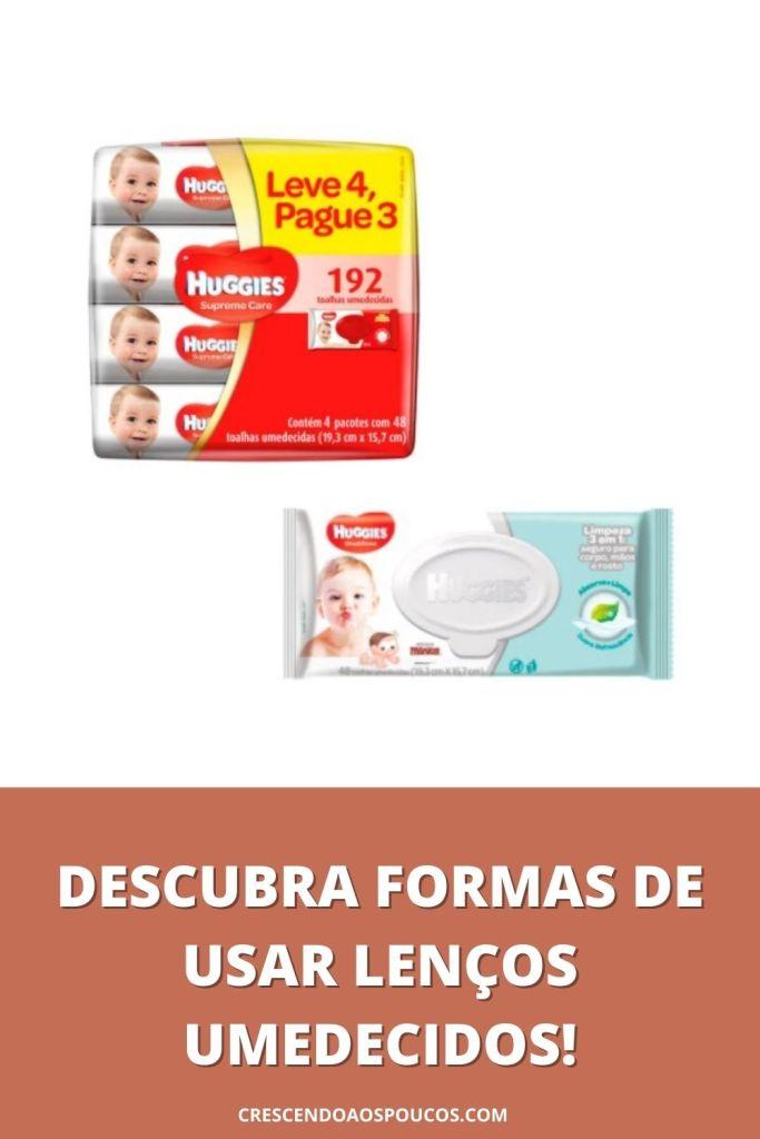 FORMAS DE USAR LENÇOS UMEDECIDOS