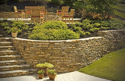 Crescent dc retaining walls in northern virginia md dc for Landscaping rocks northern virginia