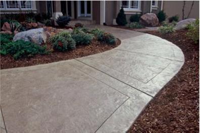 Very Nice Custom Concrete Walkway