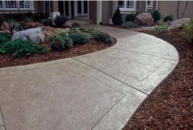 Very Nice Custom Concrete Walkway