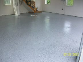 Epoxy Coating in Garage