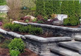 Beautiful Stone Retaining Wall with Matching Steps
