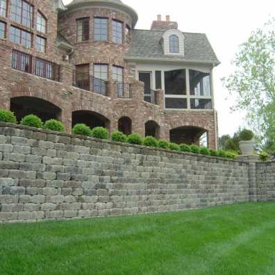 Beautiful Structural Retaining Wall