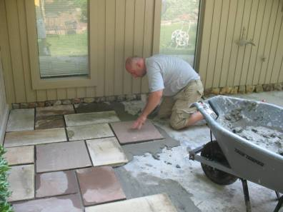 Blue stone Patio Installation Great Falls, VA