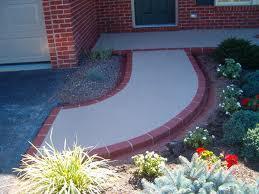 Nice Concrete and Brick Walkway