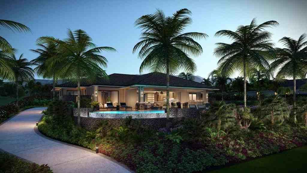 Custom Maui home exterior