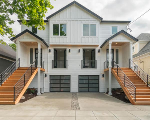Duplex by Crescent Custom Homes OR front entry