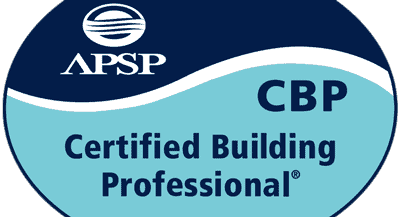 Certified Building Professional logo for the Association of Pool and Spa Professionals, Maui pool contractor