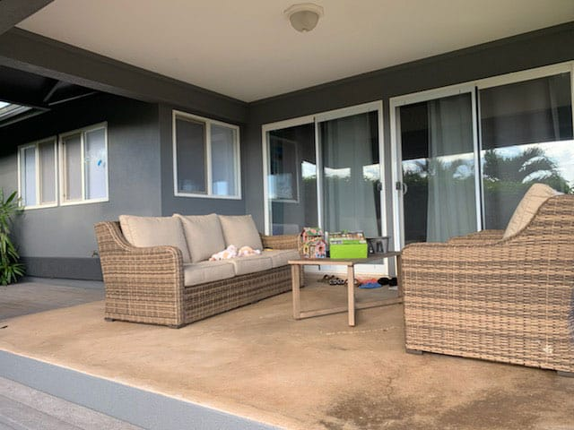 Lanai patio and home painted by Crescent Homes Maui