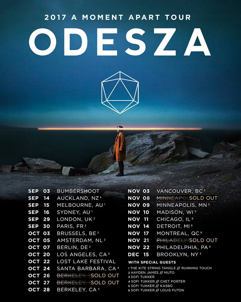ODESZA Embarks On The A Moment Apart Tour 2017 With Chet