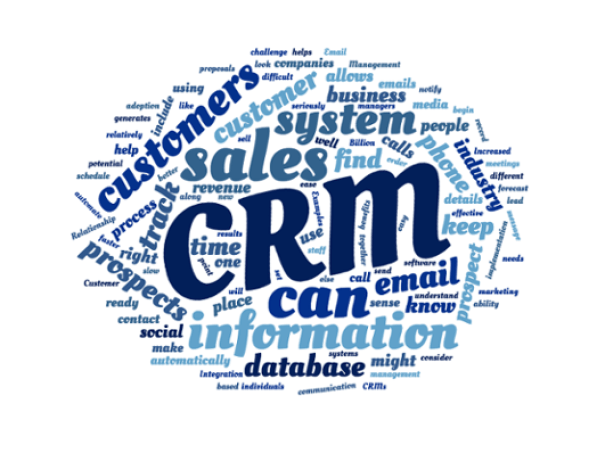 CRM Email Marketing Word Cloud by Crest Consulting