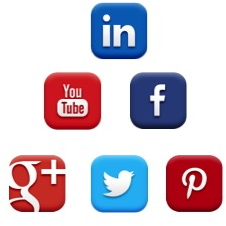 Social icons, Crest Consulting