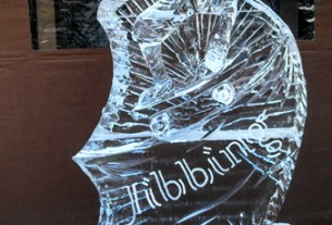 crested butte ice sculpture, rock on ice