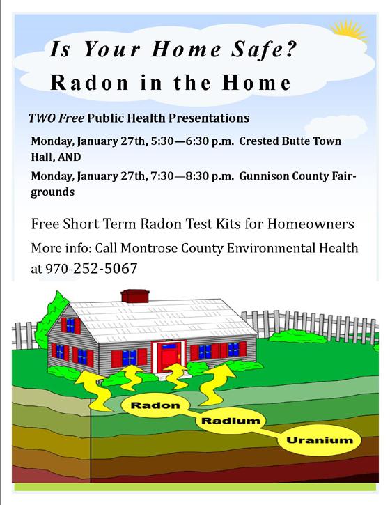 radon testing gunnison crested butte