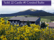 Sold in Crested Butte: 22 Castle Road #1