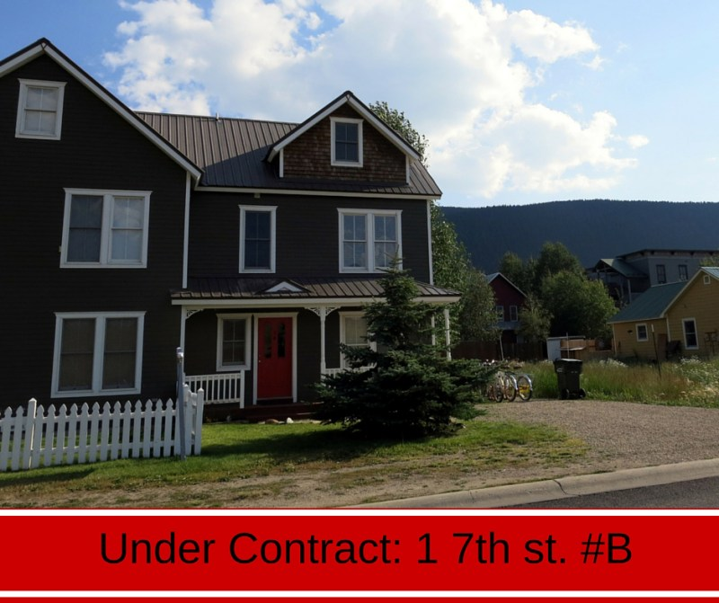 Crested Butte real estate under contract: 1 7th st. #B