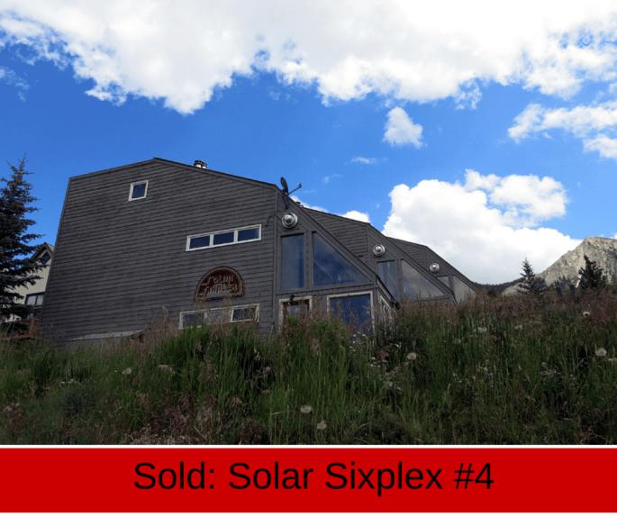 crested butte real estate condo sold in solar sixplex at 26 castle road.