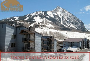 Chateaux condo Crested Butte under contract