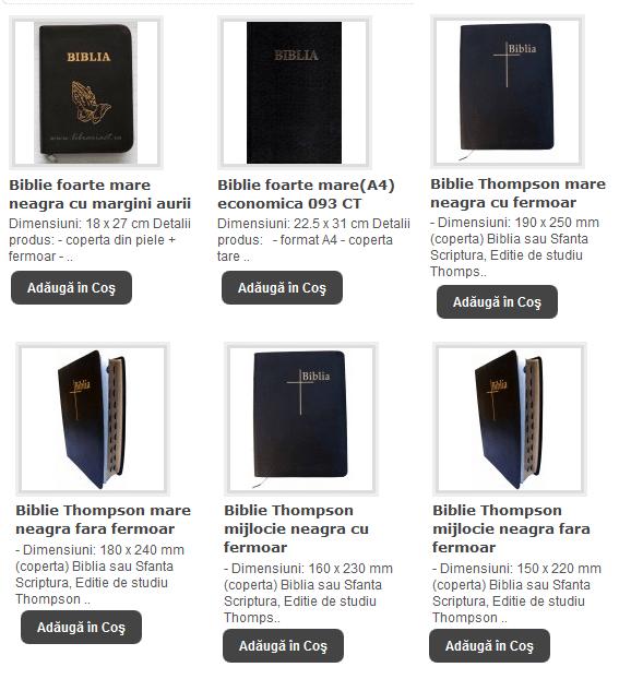 BIBLII FOARTE MARI