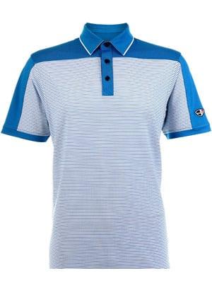 Mens Polo 80-380545 Blue Moon/White