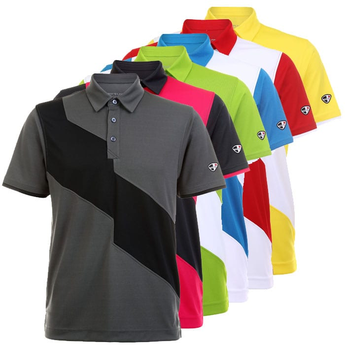 0c5961f92f5 Golf Polo Shirt with Diagonal Line for Men